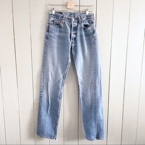 Levis 501 Vtg Jeans Sz 30 Straight Leg Fitted